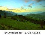 hoskhod sun in the mountains | Shutterstock . vector #173672156