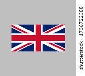 united kingdom flag vector...