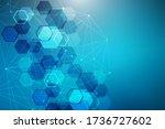 science network pattern ... | Shutterstock . vector #1736727602