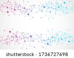 structure molecule and... | Shutterstock . vector #1736727698