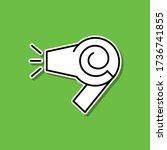 hair dryer sticker icon. simple ...