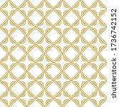 celtic knot seamless pattern... | Shutterstock .eps vector #1736742152