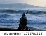 Japanese Fisherman On A Scoote...