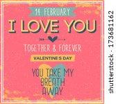 vintage valentine's day poster | Shutterstock .eps vector #173681162