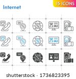 internet icon set. included...