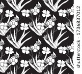 seamless floral pattern able to ... | Shutterstock .eps vector #1736837012