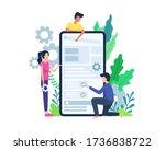 vector illustration people... | Shutterstock .eps vector #1736838722