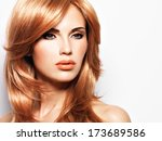 portrait of a beautiful woman...   Shutterstock . vector #173689586