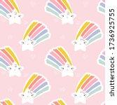 seamless pattern of kawaii star ...   Shutterstock .eps vector #1736925755