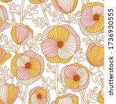 beautiful abstract poppy field  ...   Shutterstock . vector #1736930555