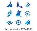 nautical logos and icons | Shutterstock .eps vector #17369311