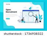 open recruitment landing page...   Shutterstock .eps vector #1736938322