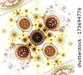 colorful clockwork pattern ... | Shutterstock . vector #173694776