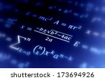 math geometry background with... | Shutterstock . vector #173694926