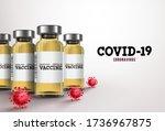 covid19 coronavirus vaccine...   Shutterstock .eps vector #1736967875