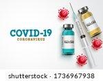 covid 19 coronavirus vaccine... | Shutterstock .eps vector #1736967938