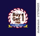 marketing  campiagn buy 1 get 1 ...   Shutterstock .eps vector #1737004205