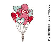heart air balloons batch.... | Shutterstock . vector #173700932