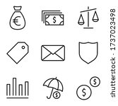 finance and money set icons.... | Shutterstock .eps vector #1737023498