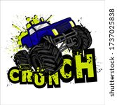 monster track car typography... | Shutterstock .eps vector #1737025838