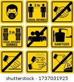 hotel safety instruction... | Shutterstock .eps vector #1737031925