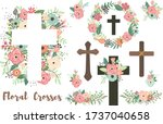A Vector Of Floral Crosses...