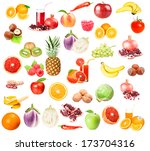 collection of various fruits... | Shutterstock . vector #173704316