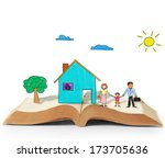 magical world of reading  magic ... | Shutterstock . vector #173705636