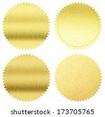 Gold Seals Or Medals Set...