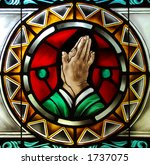 Stained Glass  Praying Hands...