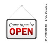 button with come open. banner... | Shutterstock .eps vector #1737101312