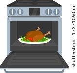 Open Door Oven. Cook Meal In...