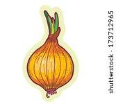 hand drawn onion cartoon vector.