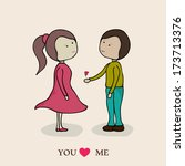 happy valentines day... | Shutterstock .eps vector #173713376