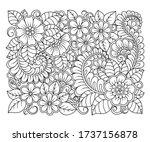 outline square floral pattern... | Shutterstock .eps vector #1737156878