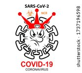 coronavirus sars cov 2 with...   Shutterstock . vector #1737196598