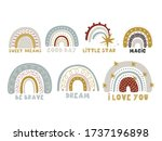 cute collection magic rainbow... | Shutterstock .eps vector #1737196898