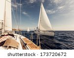 sailing ship yachts with white... | Shutterstock . vector #173720672