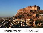 mehrangarh fort  in jodhpur ... | Shutterstock . vector #173721062