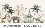 vintage indian floral palm... | Shutterstock .eps vector #1737210788
