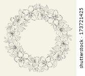 Floral Wreath   Wedding Design. ...