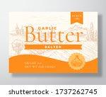 garlic salted butter dairy... | Shutterstock .eps vector #1737262745