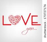 happy valentines day...   Shutterstock .eps vector #173727176