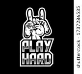 apparel print design for gamer... | Shutterstock .eps vector #1737286535