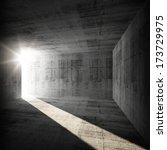 abstract empty dark concrete... | Shutterstock . vector #173729975