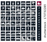vector  big transportation icon ... | Shutterstock .eps vector #173732285