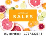 banner with text in english ... | Shutterstock . vector #1737333845