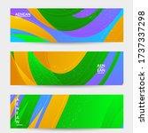 abstract vector wavy pattern... | Shutterstock .eps vector #1737337298
