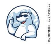 Cartoon Cool Polar Bear Mascot...