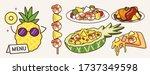 cute tasty cartoon yellow... | Shutterstock .eps vector #1737349598